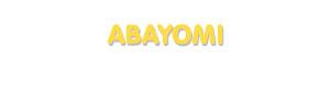 Der Vorname Abayomi