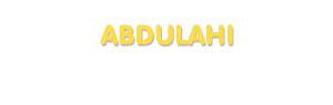 Der Vorname Abdulahi