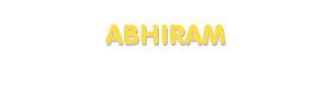 Der Vorname Abhiram