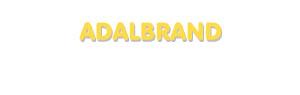 Der Vorname Adalbrand