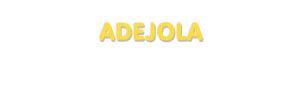 Der Vorname Adejola