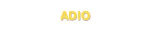 Der Vorname Adio