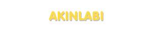 Der Vorname Akinlabi