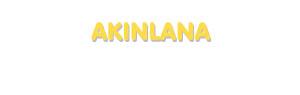 Der Vorname Akinlana