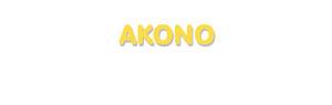 Der Vorname Akono