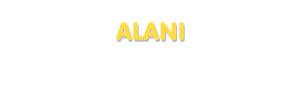 Der Vorname Alani