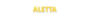 Der Vorname Aletta