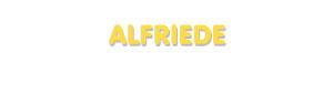 Der Vorname Alfriede
