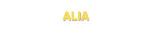 Der Vorname Alia
