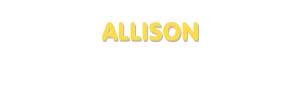 Der Vorname Allison