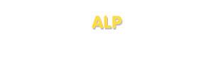 Der Vorname Alp