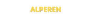 Der Vorname Alperen