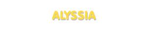 Der Vorname Alyssia