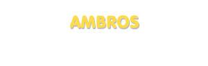 Der Vorname Ambros