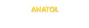 Der Vorname Anatol