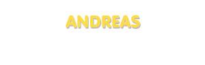 Der Vorname Andreas