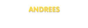 Der Vorname Andrees