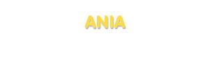 Der Vorname Ania