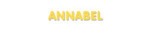 Der Vorname Annabel