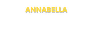 Der Vorname Annabella