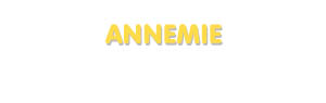 Der Vorname Annemie