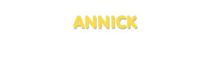 Der Vorname Annick