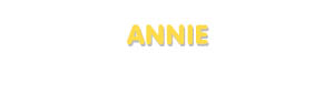 Der Vorname Annie