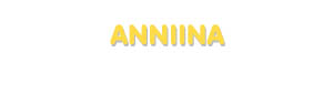 Der Vorname Anniina