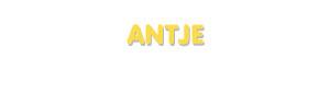 Der Vorname Antje