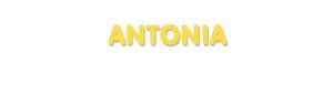 Der Vorname Antonia