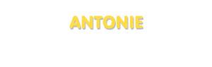 Der Vorname Antonie