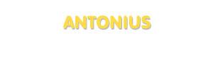 Der Vorname Antonius