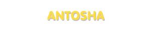 Der Vorname Antosha