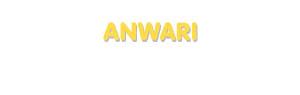 Der Vorname Anwari