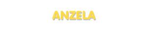 Der Vorname Anzela