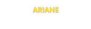 Der Vorname Ariane