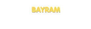 Der Vorname Bayram