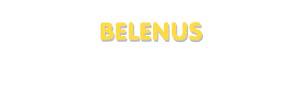 Der Vorname Belenus