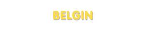 Der Vorname Belgin