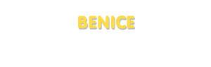 Der Vorname Benice