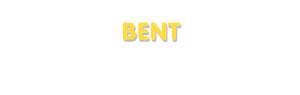 Der Vorname Bent