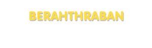 Der Vorname Berahthraban