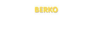 Der Vorname Berko