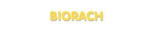 Der Vorname Biorach