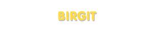 Der Vorname Birgit