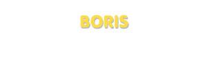 Der Vorname Boris