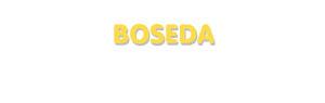 Der Vorname Boseda