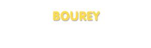 Der Vorname Bourey