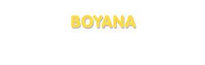 Der Vorname Boyana