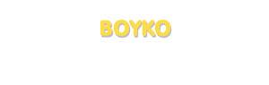 Der Vorname Boyko